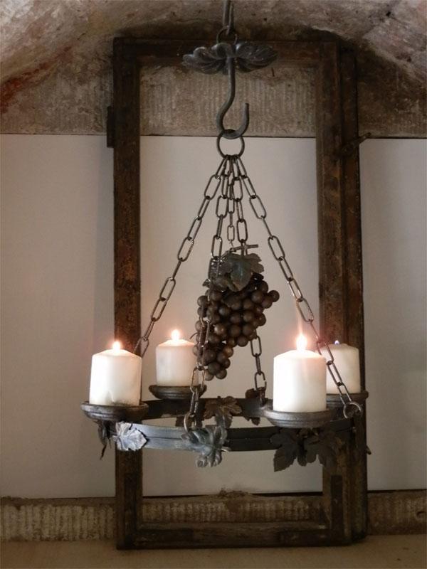 h ngeleuchter wein licht eisenlicht eisen. Black Bedroom Furniture Sets. Home Design Ideas